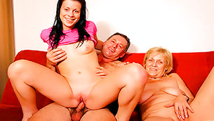 Lecherous girl doesn't mind to ride a dick of her uncle