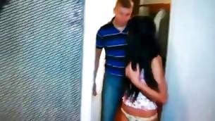 Brunette hustler loves going hard throat on her boyfriend's weighty rough phallus